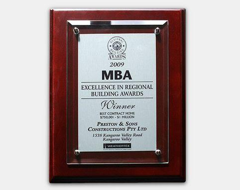MBA 2009 - Excellence in Regional Building Awards