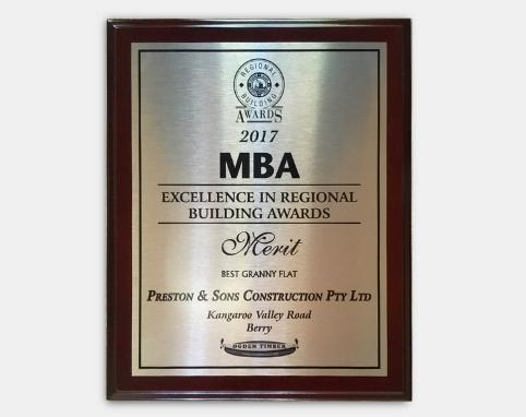 MBA 2017 - Excellence in Regional Building Awards